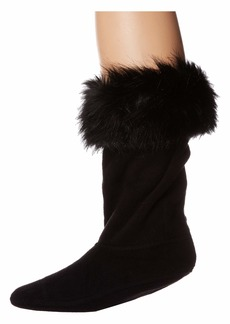 Hunter Faux Fur Cuff Boot Sock (Toddler/Little Kid/Big Kid)