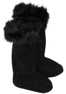 Hunter faux fur snow boots