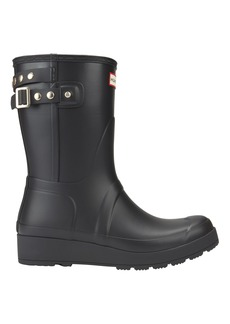 Hunter Original Studded-Strap Short Wedge Rain Boots