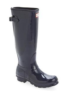 Hunter Adjustable Back Gloss Rain Boot (Women)