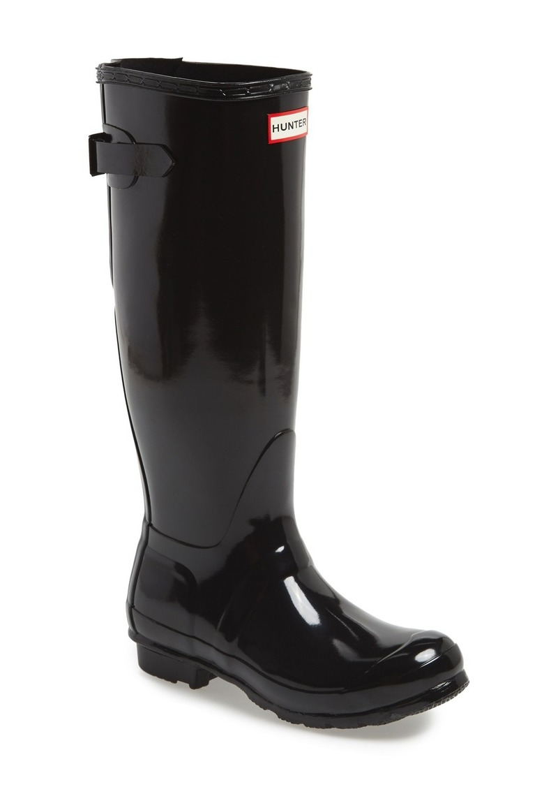 Hunter Adjustable Back Gloss Waterproof Rain Boot (Women)