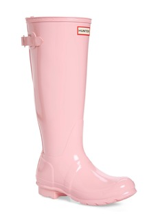 Hunter Adjustable Back Gloss Waterproof Rain Boot (Women)
