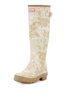 Hunter Boot Original Tall Flectarn Camouflage Rain Boot