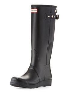 Hunter Boot Original Tall Studded-Strap Wedge Rain Boot