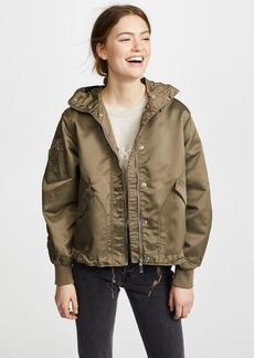 Hunter Boots Drawstring Bomber Jacket
