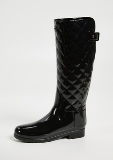 Hunter Boots Refined Gloss Quilt Tall Boots