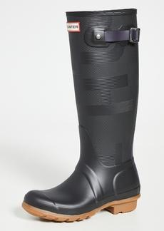 Hunter Boots Womens Original Tall Exploded Logo Texture Boots