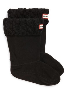 Hunter Cable Knit Cuff Welly Boot Socks (Walker, Toddler, Little Girls & Big Girls)