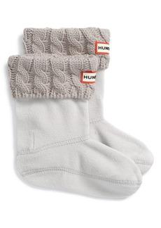 Hunter Cable Knit Cuff Welly Boot Socks (Walker, Toddler, Little Girls & Big Girls)