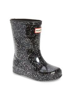 Hunter First Classic Giant Glitter Waterproof Rain Boot (Walker, Toddler & Little Kid)