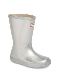 Hunter First Classic Metallic Waterproof Rain Boot (Walker, Toddler & Little Kid)