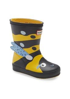 Hunter First Wasp Character Waterproof Rain Boot (Toddler & Little Kid)