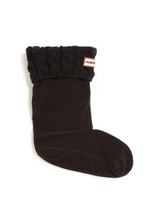 Junk Food Little Girl's Six-Stitch Cabled Boot Socks