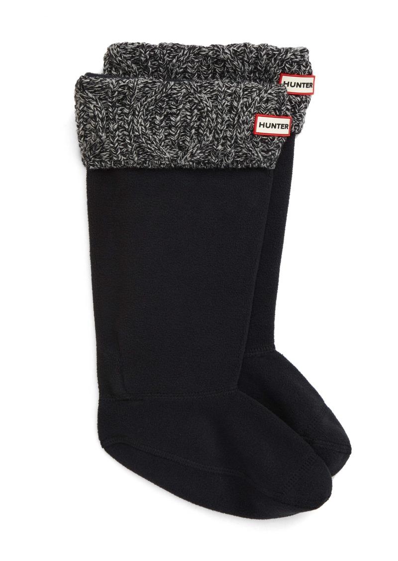 Hunter Original Cable Knit Cuff Tall Boot Socks (Women)