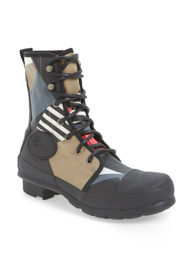 Hunter Hunter Original Dazzle Commando Lace Up Boot Shoes