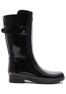 Hunter Original Refined Back Strap Short Gloss Boot