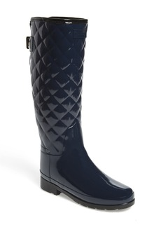 Hunter Original Refined High Gloss Quilted Rain Boot (Women)