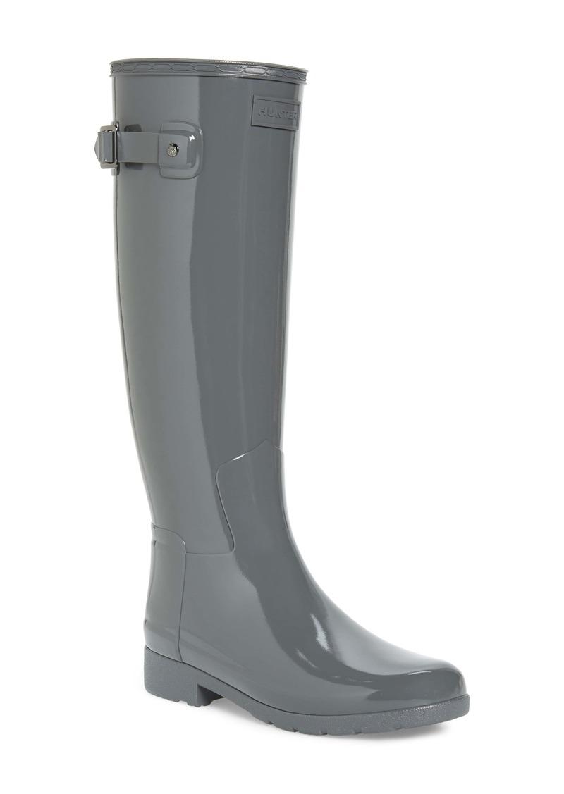 Hunter Original Refined High Gloss Waterproof Rain Boot (Women)