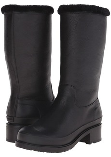 Hunter Original Shearling Lined Leather Pull On Boot
