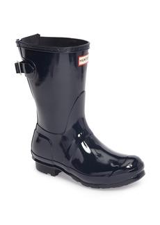 Hunter Original Short Adjustable Back Gloss Rain Boot (Women)