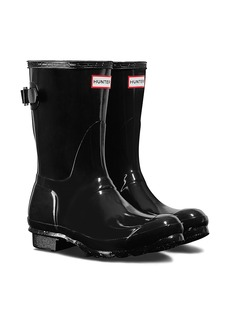 Hunter Original Short Adjustable Back Gloss Waterproof Rain Boot (Women)