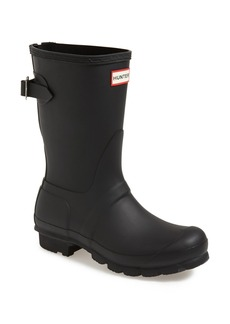 Hunter Original Short Back Adjustable Waterproof Rain Boot (Women)