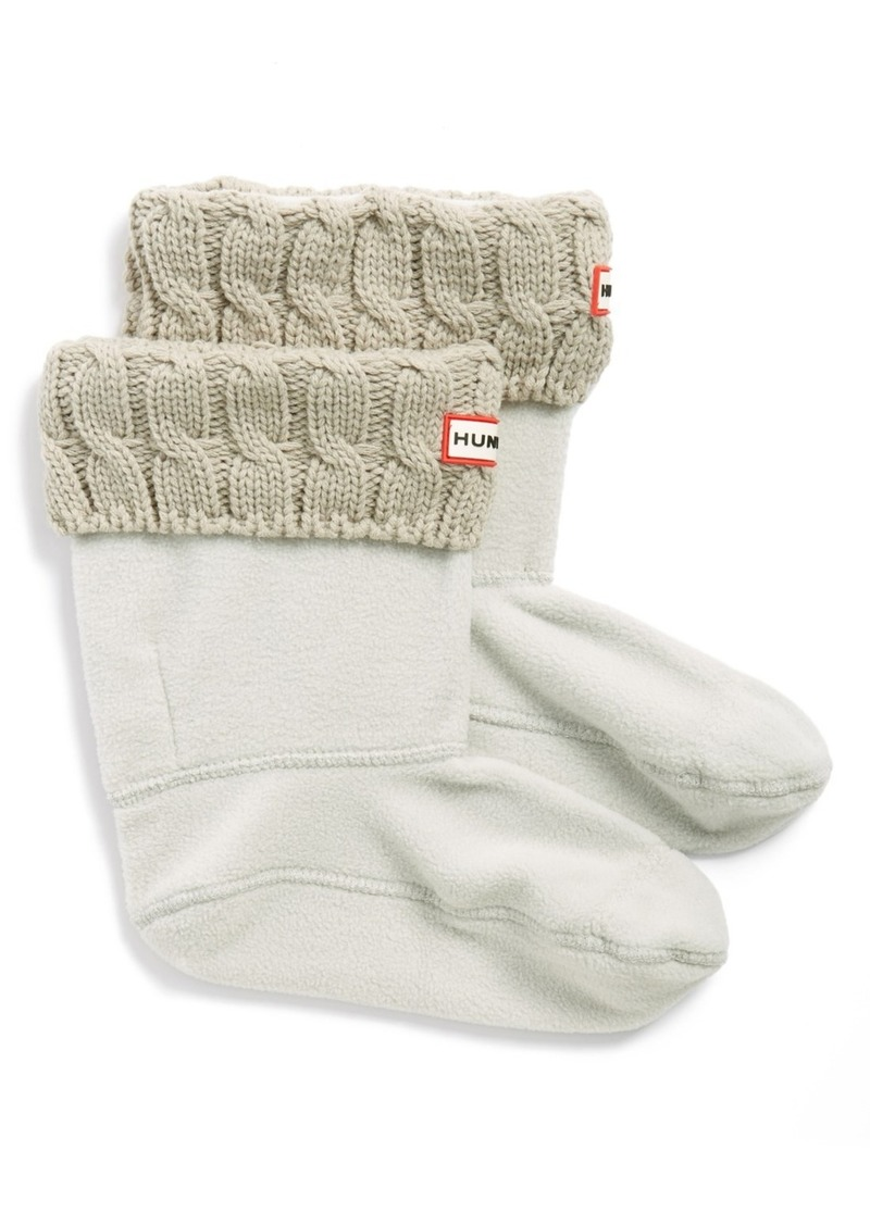 Hunter Original Short Cable Knit Cuff Welly Boot Socks