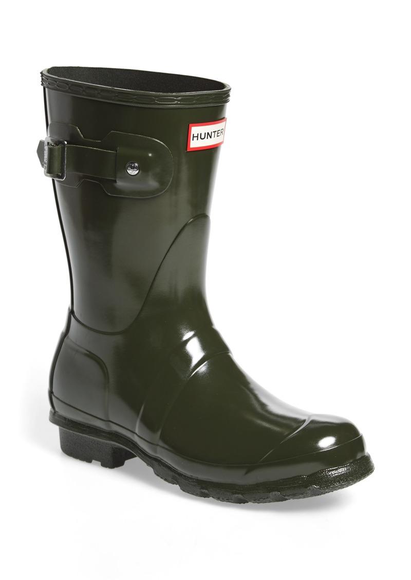 6cd04e899b25 Hunter Hunter  Original Short  Gloss Rain Boot (Women)