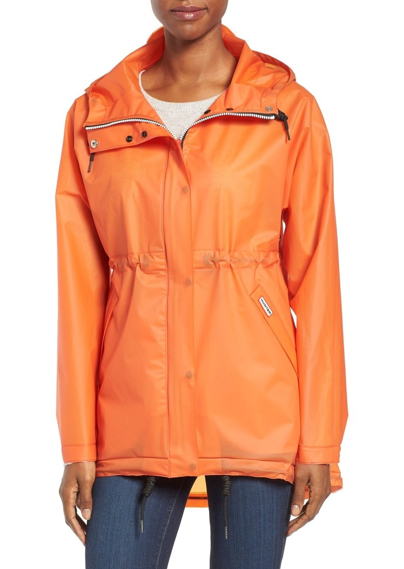 Hunter 'Original Smock' Hooded Drawstring Waterproof Jacket