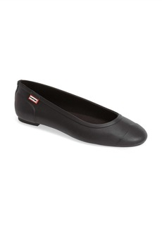Hunter 'Original Tour' Packable Waterproof Ballerina Flat (Women)
