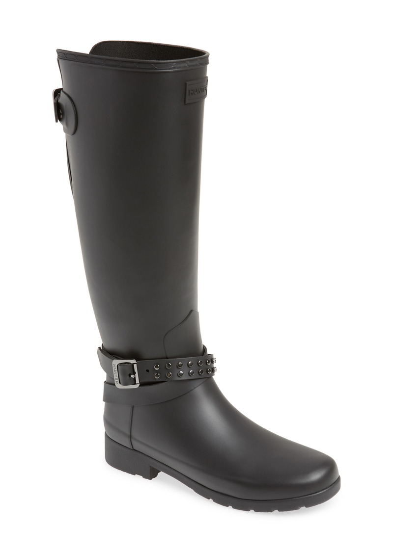 3bf0b4d06 Hunter Hunter Refined Adjustable Back Knee High Waterproof Rain Boot ...