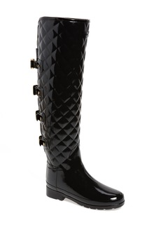 Hunter Refined Gloss Quilted Over the Knee Rain Boot (Women)