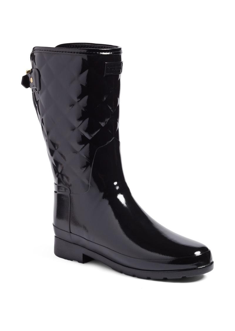 1796fc7ddaee Hunter Hunter Refined High Gloss Quilted Short Waterproof Rain Boot ...