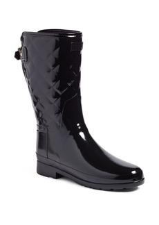 Hunter Refined High Gloss Quilted Short Rain Boot (Women)