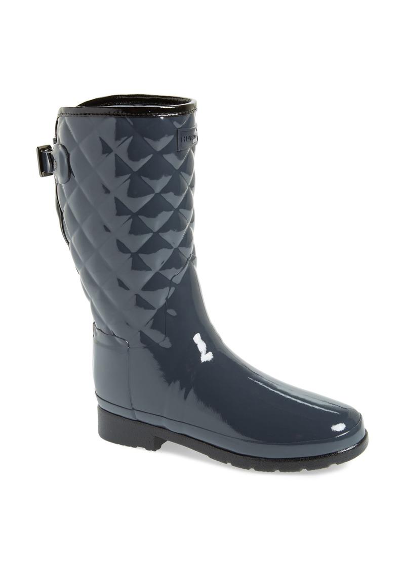 9391c9cc4e7 Hunter Hunter Refined High Gloss Quilted Short Waterproof Rain Boot ...