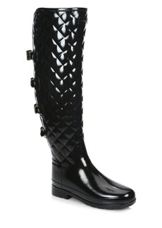 Hunter Refined Quilted Over-The-Knee Rain Boots