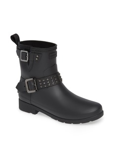 Hunter Refined Stud Waterproof Biker Boot (Women)