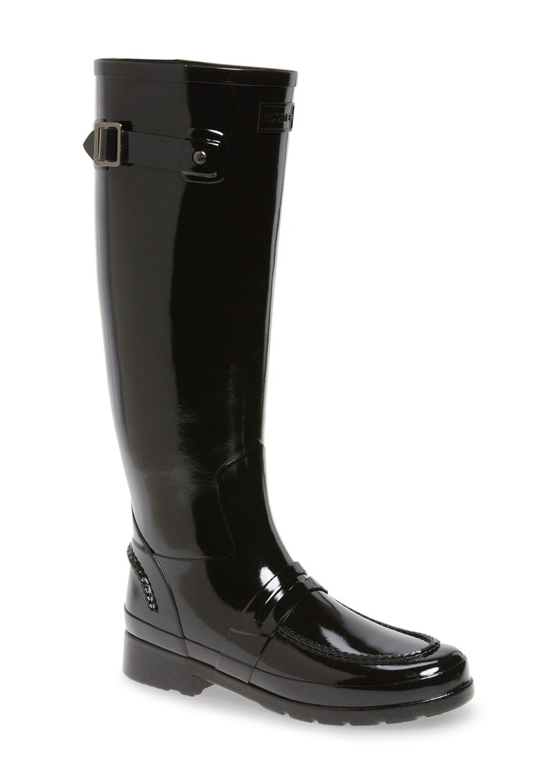 Hunter Original Refined Penny Loafer Tall Waterproof Rain Boot 1IaLcs