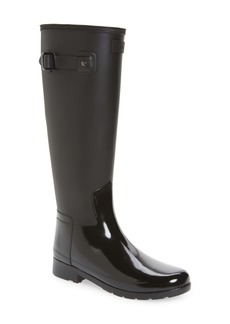 Hunter Refined Tall Matte Gloss Waterproof Rain Boot (Women)