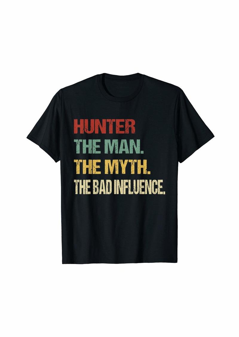 HUNTER The Man The Myth The Bad Influence Name Tee