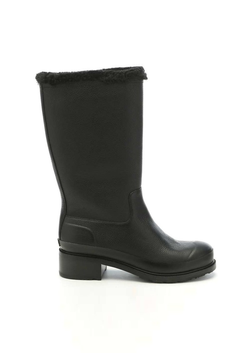 Hunter Women's Original Shearling Line Leather Pull On Boot