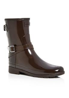 Hunter Women's Refined Adjustable Short Gloss Rain Boots