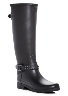 Hunter Women's Refined Matte Biker Rain Boots