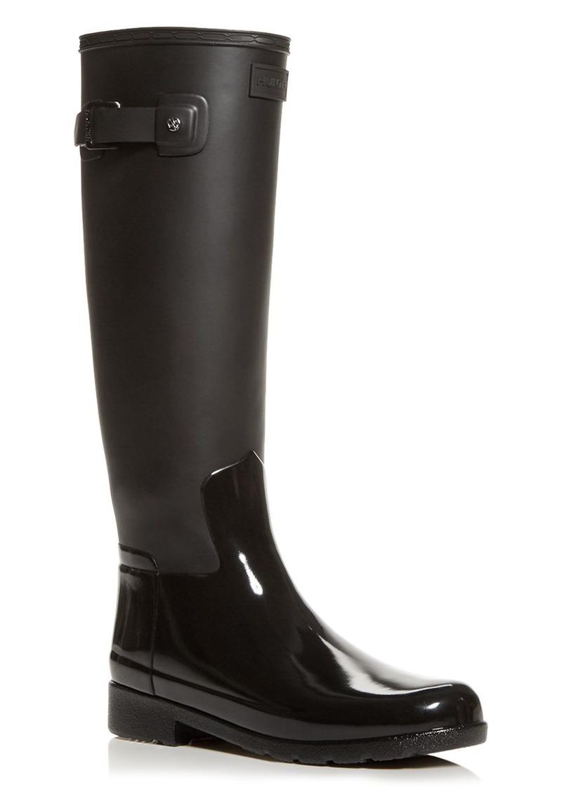 Hunter Women's Refined Tall Gloss Rain Boots