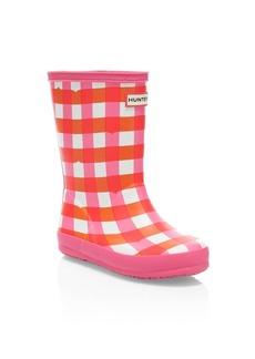 Hunter Kid's First Classic Gloss Gingham Rain Boots