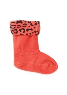 Hunter Kid's Fleece Snow Leopard Boot Socks
