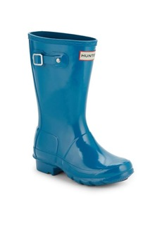 Hunter Kid's Glossed Rubber Rain Boots