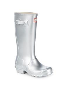 Hunter Kid's Original Metallic Rubber Rain Boots