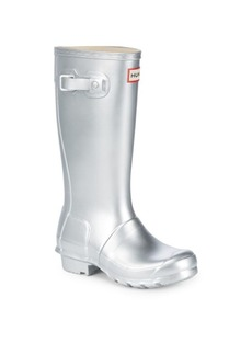 Hunter Kid's Original Metallic Rubber Rain Boots