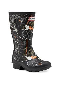 Hunter Kid's Paint-Splatter Rain Boots